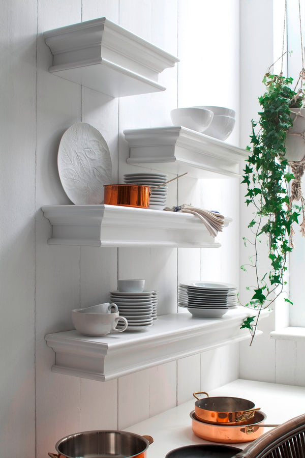 Halifax Floating Wall Shelf 60cm - White