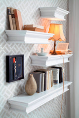 Halifax Floating Wall Shelf 120cm - White