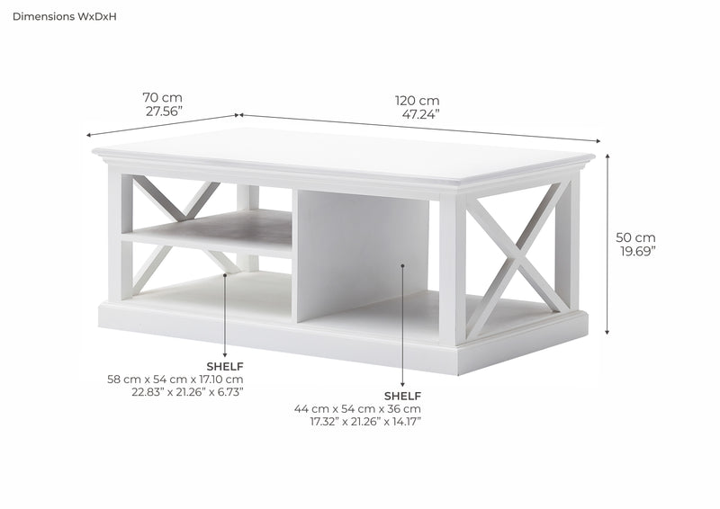 Halifax Coffee Table - White