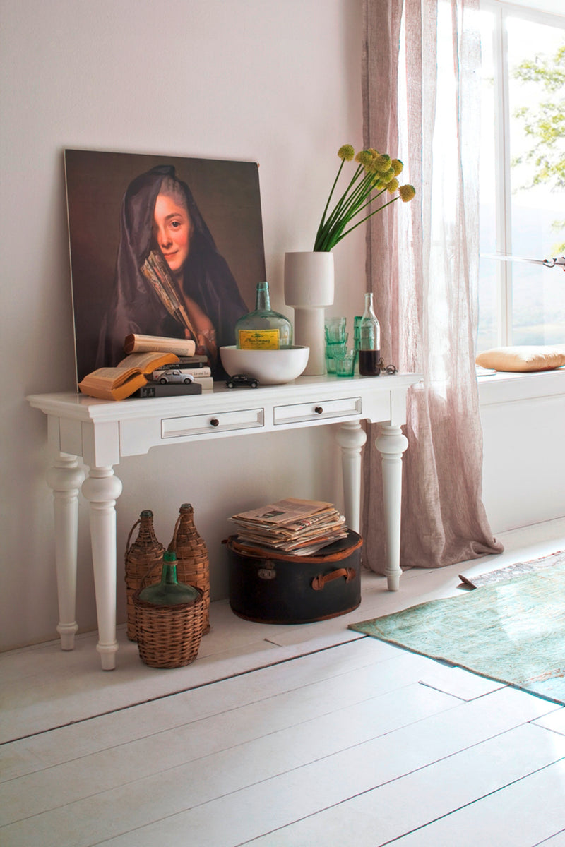 Provence Console Table - White