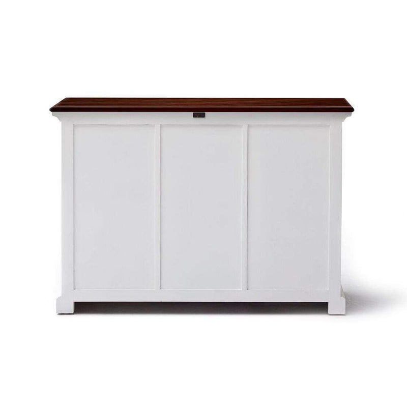 Halifax Accent Buffet - White with Brown Top-Buffet-Novasolo-I Wanna Go Home