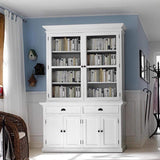 Halifax Buffet & Hutch - White-Hutch Cabinet-Novasolo-I Wanna Go Home