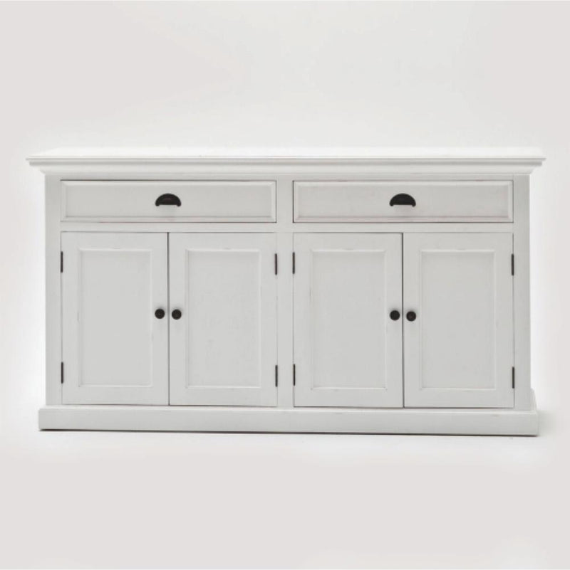 Halifax Buffet & Open Shelf Hutch - White-Hutch Cabinet-Novasolo-I Wanna Go Home