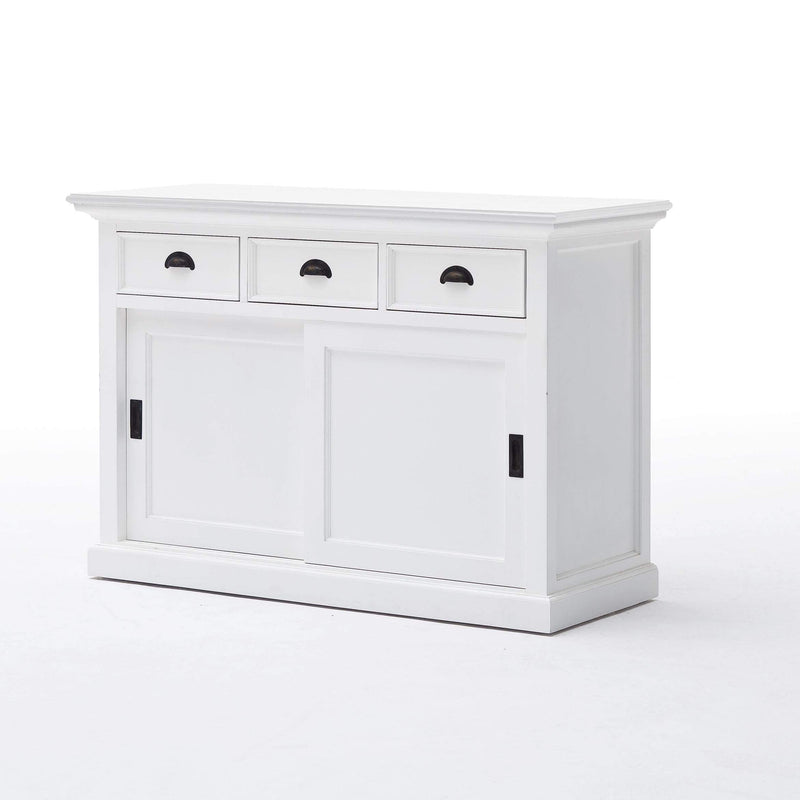 Halifax Buffet with Sliding Doors - White-Buffet-Novasolo-I Wanna Go Home