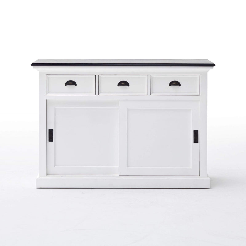 Halifax Contrast Buffet - White with Black Top-Buffet-by NovaSolo-I Wanna Go Home