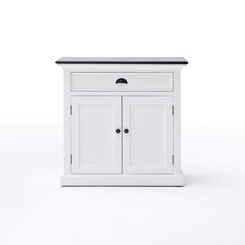 Halifax Contrast Small Buffet - White with Black Top-Buffet-by NovaSolo-I Wanna Go Home