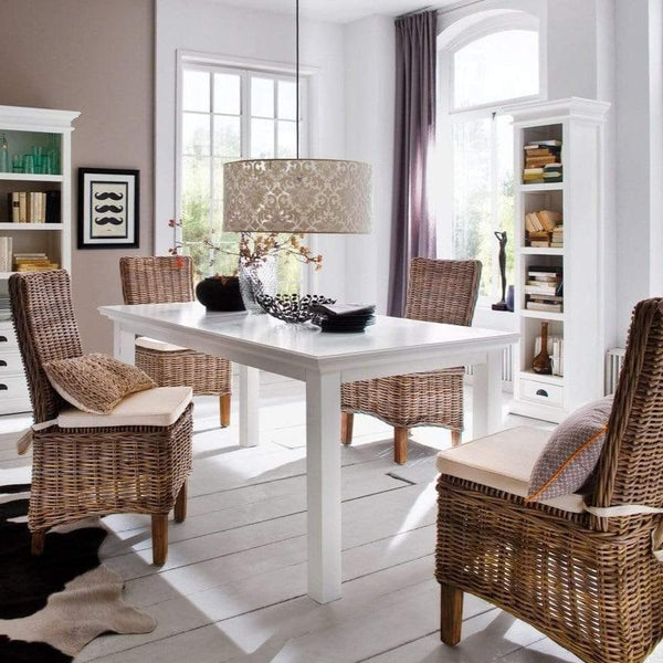 Halifax Dining Table 200 - White-Dining Table-Novasolo-I Wanna Go Home