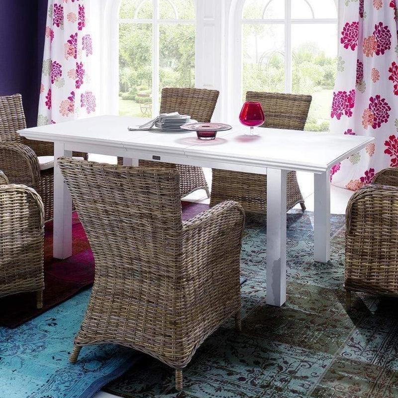 Halifax Extension Dining Table 160cm - White-Dining Table-Novasolo-I Wanna Go Home