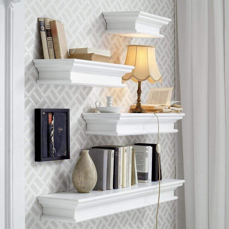 Halifax Floating Wall Shelf 120cm - White-Shelf-by NovaSolo-I Wanna Go Home