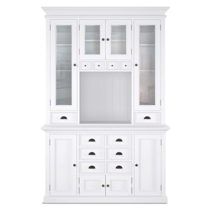 Halifax Kitchen Buffet & Hutch - White-Hutch Cabinet-by NovaSolo-I Wanna Go Home