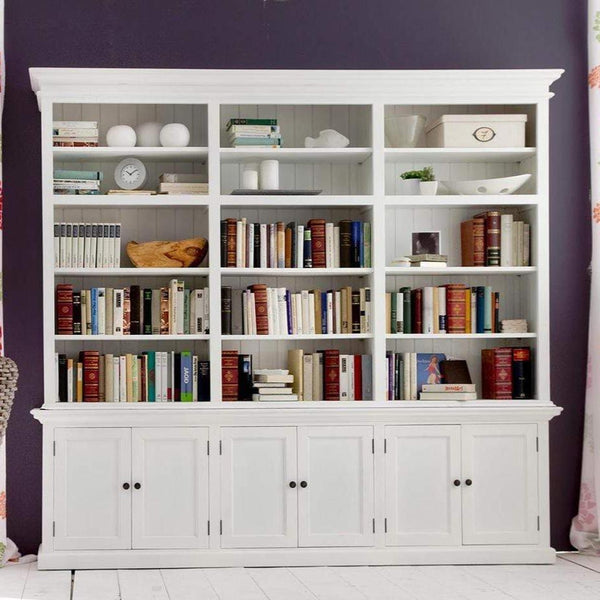 Halifax Large Hutch Bookcase - White-Hutch Cabinet-by NovaSolo-I Wanna Go Home