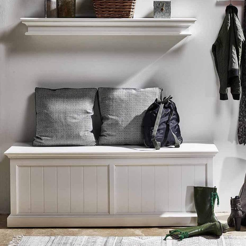 Halifax Medium Blanket and Storage Box - White-Chest-by NovaSolo-I Wanna Go Home