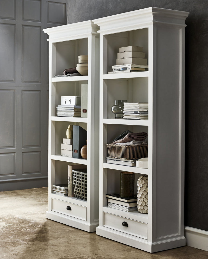 Halifax Medium Bookcase - White-Bookcase-by NovaSolo-I Wanna Go Home