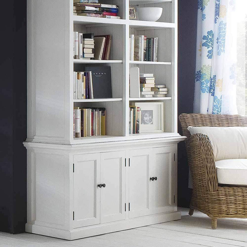 Halifax Medium Hutch Bookcase - White-Hutch Cabinet-by NovaSolo-I Wanna Go Home