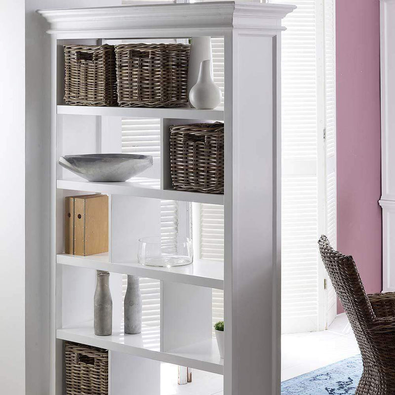 Halifax Open Bookcase / Room Divider - White-Bookcase-by NovaSolo-I Wanna Go Home