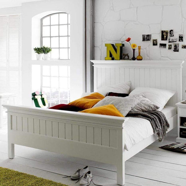 Halifax Queen Bed with Footboard - White-Bed-by NovaSolo-I Wanna Go Home