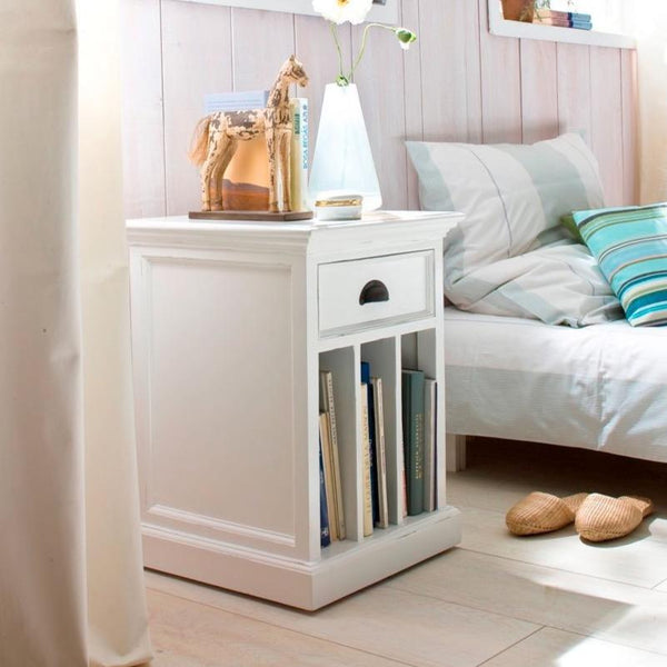 Halifax Side Table - White-Bedside Table-by NovaSolo-I Wanna Go Home
