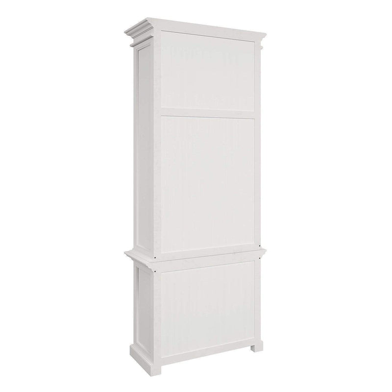Halifax Slim Hutch Bookcase - White-Hutch Cabinet-by NovaSolo-I Wanna Go Home