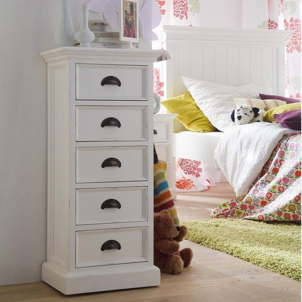 Halifax Storage Unit 5 Drawers - White-Chest-by NovaSolo-I Wanna Go Home