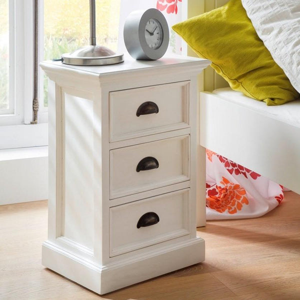 Halifax Storage Unit / Bedside Chest 3 Drawers - White-Bedside Table-by NovaSolo-I Wanna Go Home