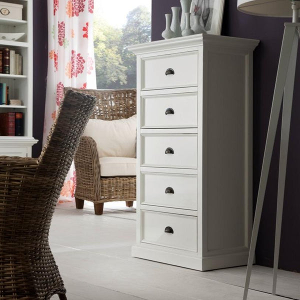 Halifax Tall Chest of Drawers - White-Dresser-by NovaSolo-I Wanna Go Home