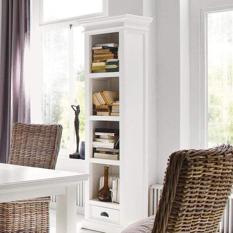 Halifax Thin Line Bookcase - White-Bookshelf-by NovaSolo-I Wanna Go Home