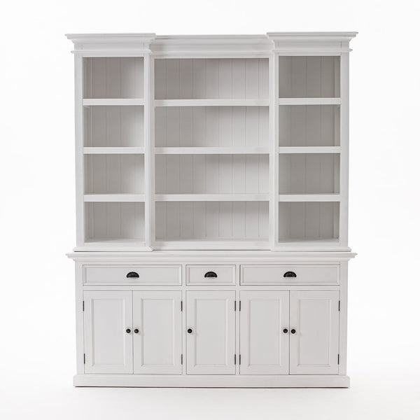 Kitchen Hutch Cabinet with 5 Doors 3 Drawers-Hutch Cabinet-Novasolo-I Wanna Go Home