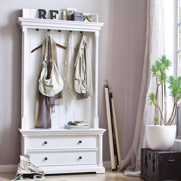 Provence Coat Hanger Unit - White-Hall Tree-Novasolo-I Wanna Go Home