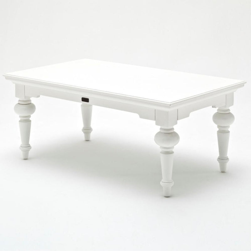 Provence Rectangle Coffee Table - White-Coffee Table-Novasolo-I Wanna Go Home