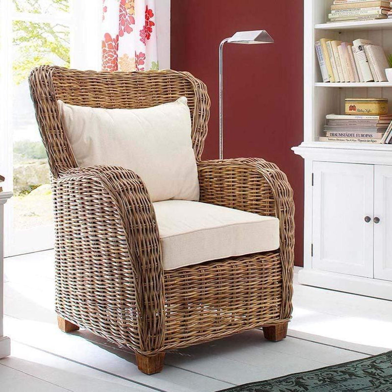 Queen Kubu Rattan Arm Chair-Chair-Novasolo-I Wanna Go Home