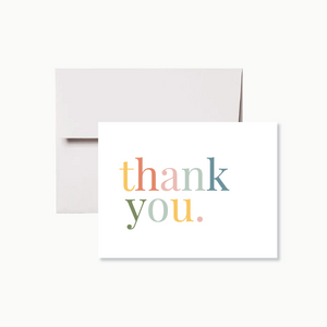 Pastel Rainbow Thank You Card