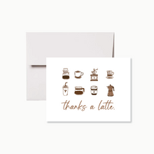 Load image into Gallery viewer, Thanks A Latte Thank You Card