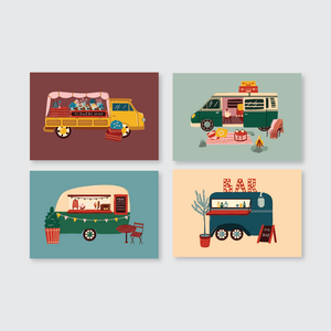 Cool Campers Post Card Set