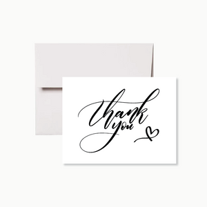 Simple Calligraphy Thank You Card