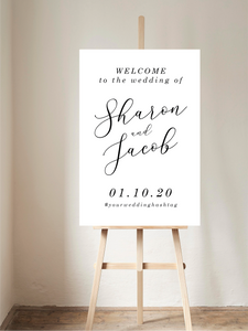 Simple Calligraphy Welcome Sign
