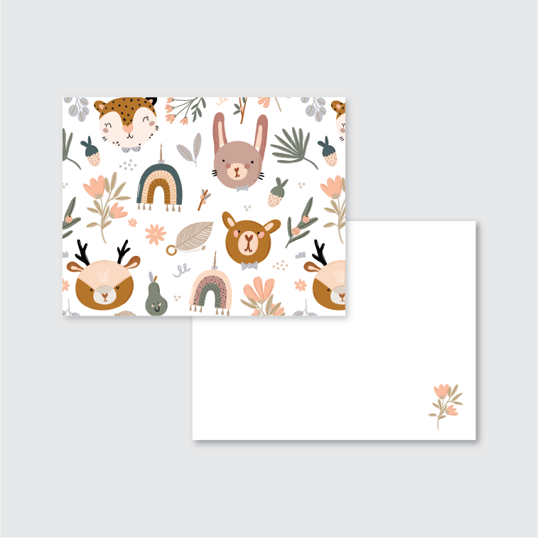 Cute Animals Stationery Set of 24