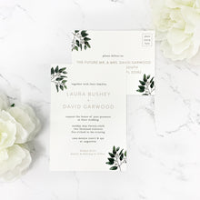 Load image into Gallery viewer, Modern Eucalyptus Wedding Invitation Suite