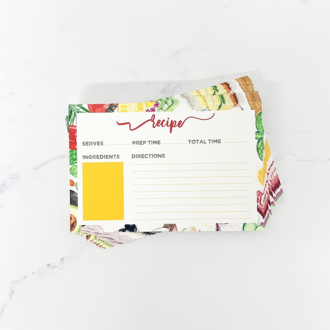 Recipe Card Set 24 Pack
