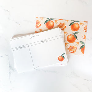 Oranges Recipe Card Set 24 Pack