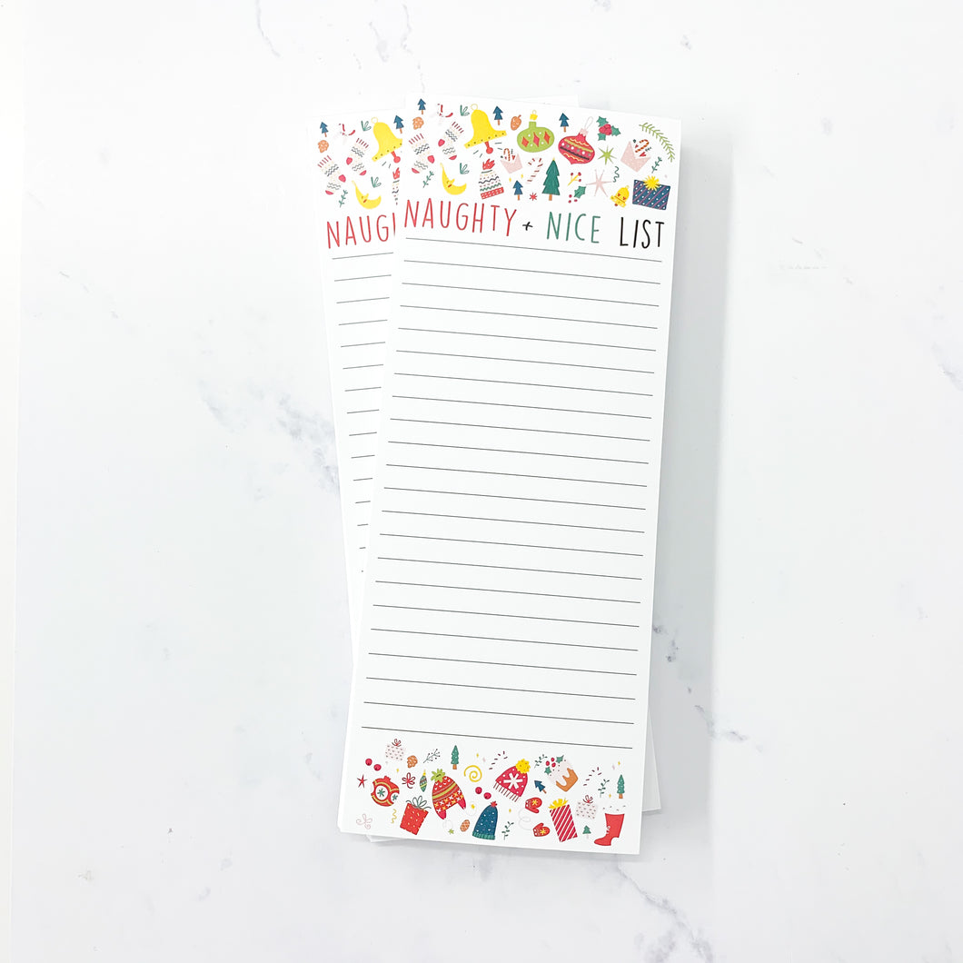 Naughty & Nice List - 50 Page Christmas Notepad