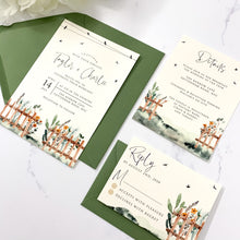 Load image into Gallery viewer, Country Fence Wedding Invitation Suite