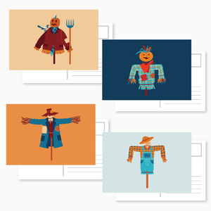Scarecrows Post Card Set