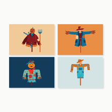 Load image into Gallery viewer, Scarecrows Post Card Set