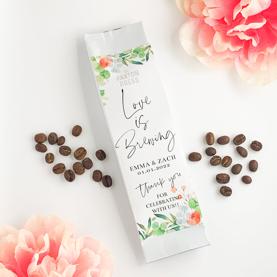 Love is Brewing Mini Coffee Wedding Favor