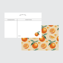 Load image into Gallery viewer, Oranges Recipe Card Set 24 Pack