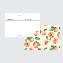 Load image into Gallery viewer, Peaches Recipe Card Set 24 Pack