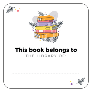 This Book Belongs To Sticker 25 Pack - Colorful