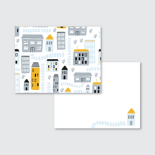 Load image into Gallery viewer, City Pattern Stationery Set of 24