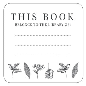 This Book Belongs To Sticker 25 Pack - Botanicals