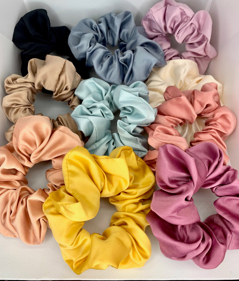 Satin Silk Scrunchies